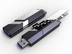 USB Flash Drive Concept. It combines a number of small capacity memory Micro SD cards, or large if you have the funds. Transforming them into one useable USB memory flash drive.
