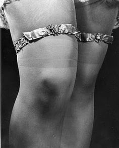 vintage garters---of course your legs are not that full but still that is vintage ...pretty