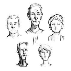 Face Sketches by westieslant.deviantart.com on @DeviantArt
