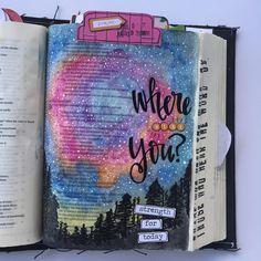 Bible Journaling by @kristenwolbach                                                                                                                                                      More