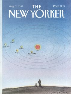 The New Yorker - Monday, August 31, 1987 - Issue # 3263 - Vol. 63 - N° 28 - Cover by : Eugène Mihaesco