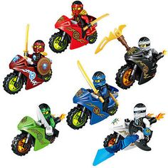 Hot 6PCS Ninjago Motorcycle Set Ninja Mini Figures Building Blocks Toys Fit Lego - http://hobbies-toys.goshoppins.com/building-toys/hot-6pcs-ninjago-motorcycle-set-ninja-mini-figures-building-blocks-toys-fit-lego/