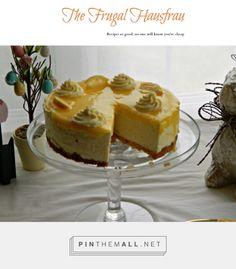 Lemon Curd Mousse Cake | Frugal Hausfrau