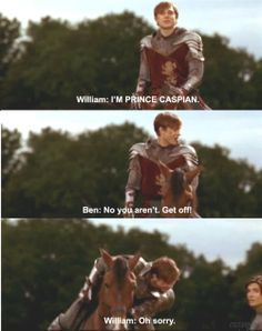 lol william moseley and ben barnes