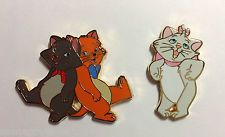 Disney Pin Aristocats 4 pin Booster Set - Berlioz & Toulouse & Marie ONLY 2 pins