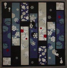 Small Size Cotton 'Rabbits and Snowflakes' Furoshiki Japanese Fabric w/Free Shipping. $8.00, via Etsy.