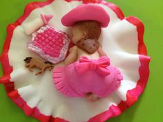 This little Cowgirl is as cute as can be. Baby Shower, Birthday, Baptism, Cake Topper and maybe because she is just cute.