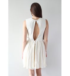 Minimal + Classic: Raw silk dress with keyhole back. Made in Germany by Isabell de Hillerin