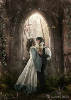 Green was worn in Medieval weddings to signify love, peace and fidelity.