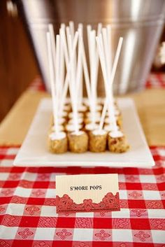 Don't think anyone can resits smores on a stick. #smores #party #desserts