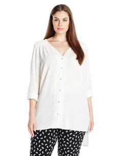 c4a19b9b22 New Look Womens PlusSize Plain Ghost Long Sleeve Shirt Cream 24 20    Check  out the image by visiting the link. This link participates in Amazon  Service LLC ...