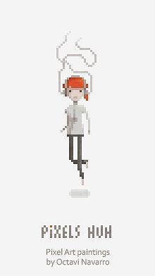 Pixels Huh. Pixel Art paintings by Octavi Navarro.