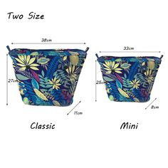 Leaves Classic Mini Size Canvas insert interior Inner Lining Zipper Pocket for obag o bag silicon bag handbag accessories Classic Handbags, Mini Handbags, Purse Tutorial, Fabric Bags, Classic Mini, Handbag Accessories, Luggage Bags, Purses And Bags, Pouch