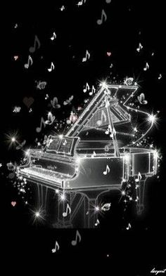 It looks like the notes are twinkling which makes sense because music is like magic!
