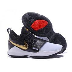15f2455c721155 NikeID PG 1 Custom Men s White Black Gold
