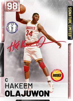 User created NBA Hakeem Olajuwon card, made using the custom card creator Basketball Pictures, Basketball Cards, Basketball Players, Basketball Bedroom, Hakeem Olajuwon, Michael Jordan Basketball, Player Card, Nba Wallpapers, Nba Stars