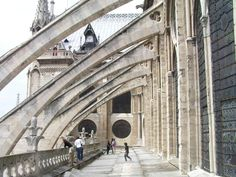 Notre Dame- Paris Cathedral. This is the buttresses of the Notre Dame Cathedral.