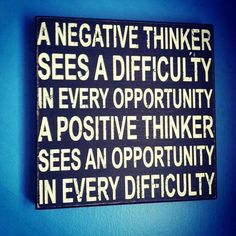 A positive thinker sees an opportunity in every difficulty.  #opportunity #awesome #business #health #challenge #solution