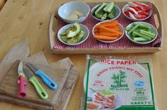 My kids and I are really  into making rice paper rolls these days — a very fun and healthy cooking activity, which they love! Dried rice paper is available from the Japanese store (you get about one hundred sheets for a few euros). The fillings can vary — we've tried cucumber, carrot, avocado, celery and …