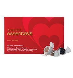 Arbonne Essentials® Fit Chews – Valentine's Edition  This year give your valentine all of the sweet, with none of the sin. This ready-to-gift box is full of delicious Chocolate and Caramel Fit Chews that help control cravings while keeping energy levels sustained. They're the healthy way to say I love you. Limited time only, while supplies last. https://krissywellman.myarbonne.com