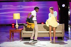 "Top 6 contestants Cyrus Spencer and Tiffany Maher perform a Broadway routine to ""Treat Me Rough"" choreographed by Spencer Liff on SO YOU THINK YOU CAN DANCE."