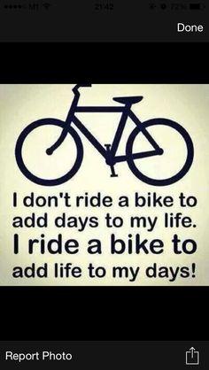 Add life to my days..