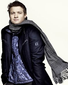 With a Hawkeye for fashion ~ Jeremy Renner.