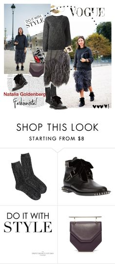 """""""My Fashion Icon Natalia Goldenberg"""" by vilen ❤ liked on Polyvore featuring American Eagle Outfitters, Dries Van Noten, Yves Saint Laurent, Ultimate, M2Malletier and CÉLINE"""