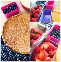 Healthy & Light Berry Dessert Pizza