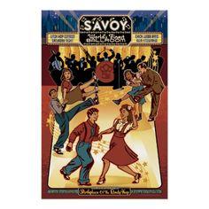 Savoy Ballroom Tribute | Vintage Advertising Print