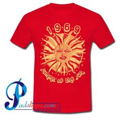 1969 summer of the sun T-shirt - Basic tees shop Bid Day Themes, Basic Tees, Cheap T Shirts, Direct To Garment Printer, Summer Collection, Printed Shirts, Custom Shirts, Shirt Style, Cool Style