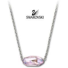 Swarovski Pink Crystal ELATED ROSALINE Necklace Silver #946725