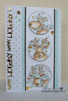 LOTV - Reindeer Trio stamps with Pastel Dreams and Always and Forever Paper Pads by KAren Oliver