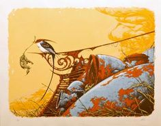 Post with 80 views. Nesting by Aaron Horkey a 21 Color Screenprint Boy Art, Environmental Art, Bird Prints, Magazine Art, Artist Art, Art Reference, Poster Prints, Posters, Art Print