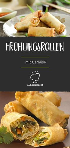 Frühlingsrollen mit Gemüse Spring rolls with vegetables are the best of two flavors! Because when crispy and savory breading meets fresh vegetables, you simply have to be in love! Pork Chop Recipes, Meatloaf Recipes, Sausage Recipes, Salmon Recipes, Grilling Recipes, Fish Recipes, Seafood Recipes, Asian Recipes, Mexican Food Recipes