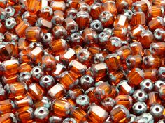 50pcs Czech FirePolished Faceted Glass Beads by BeadsFromCzech, Kč73.00