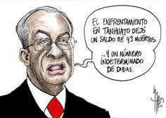 De cartuchos sembrados en la escena del crimen habla Alejandro Rubido. http://monerorape.com/
