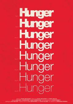 Poster by Viktor Hertz, increasing sense of desperation through the gradual bolder type. Simple and graphic.