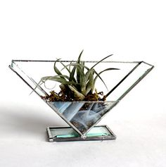 Table Top Stained Glass Beveled Air Plant Holder Terrarium – Stained Glass Décor Designed and handmade by me. This is absolutely stunning! Stained Glass Lamps, Stained Glass Designs, Stained Glass Projects, Stained Glass Patterns, Leaded Glass, Stained Glass Windows, Mosaic Glass, Fused Glass, Glass Planter