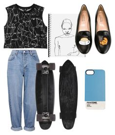 """"" by katlucker on Polyvore featuring Monki, Topshop and Chiara Ferragni"