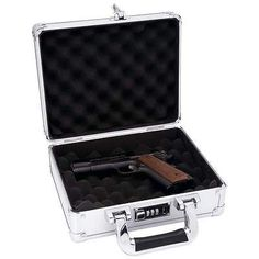Aluminum Pistol Handgun Locking Gun Case Storage Box Hard Carry Framed Exterior