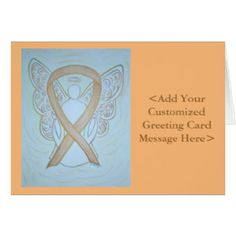 Pastel Gold Awareness Ribbon Angel Cards for Childhood Cancer