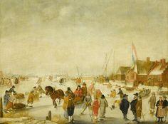 IJsvermaak, Barend Avercamp, 1630 - 1679