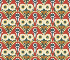How Retro can you go?  Ancient Egyptian designs refreshed and adapted to a seamless pattern.