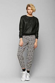 Sparkle & Fade Vegan Leather Sweatshirt