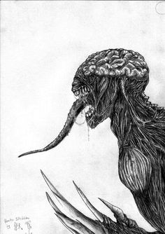 Resident Evil Sketches | Resident Evil: Licker by SBR666