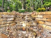 Aspen Ridge I Exterior Patio Water and Fire Feature