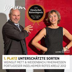 #DeutscherRotweinpreis 1. Platz unterschätzte Sorten (zwei Sieger): Portugieser Rheinhessen 2012, Weingut Mett & Weidenbach, Ingelheim #Rotweinpreis #Deutscherwein