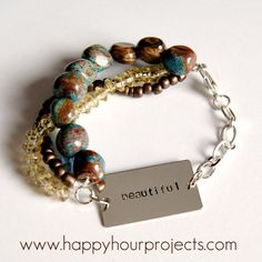 "Happy Hour Projects: ""Beautiful"" Bracelet"