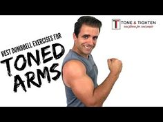 6 of the best arm exercises for strength and definition. Try this dumbbell arm workout for your shoulders, biceps, and triceps to tone and tighten your arms. Best Dumbbell Exercises, Dumbbell Arm Workout, Hip Workout, Arm Exercises, Arm Workouts At Home, At Home Workout Plan, Easy Workouts, Forearm Muscles, Gym Workout Videos
